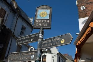 North Laine Brighton - sign post - what to do in brighton