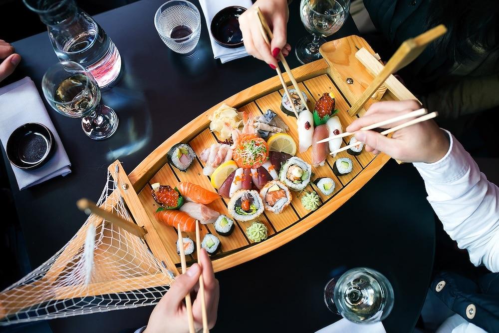 Healthy sushi at Moshimo Brighton