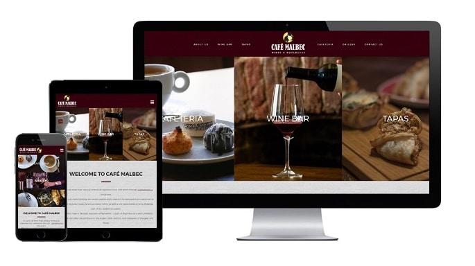 Brighton Website Design - Café Malbec, wine bar in Hove