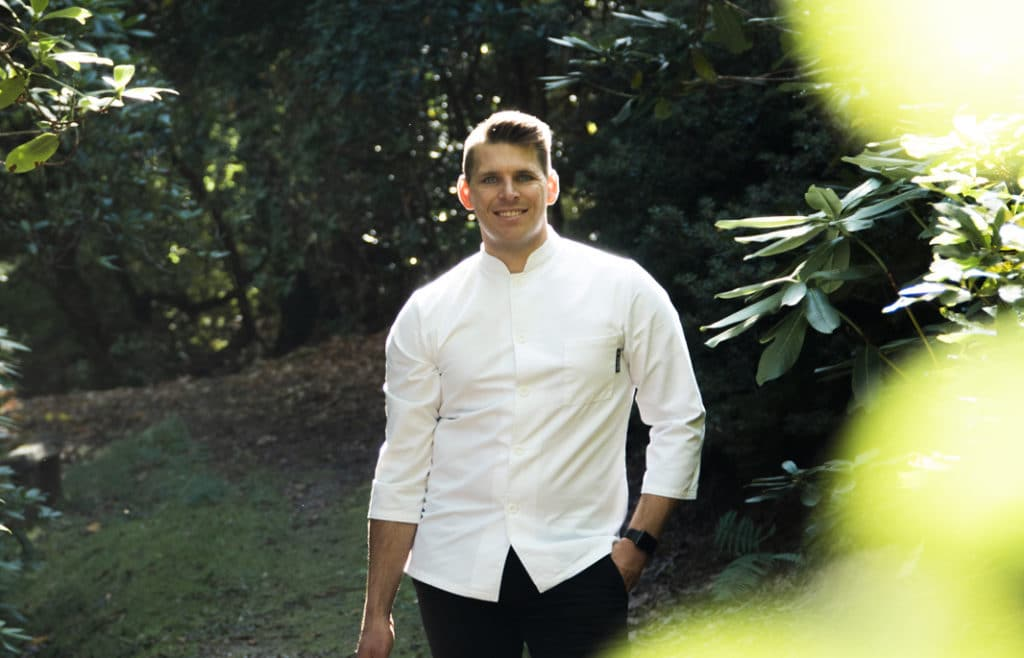 Sustainable restaurant can be exceptional restaurants. Jean Delport head chef at Michelin Star Restaurant Interlude