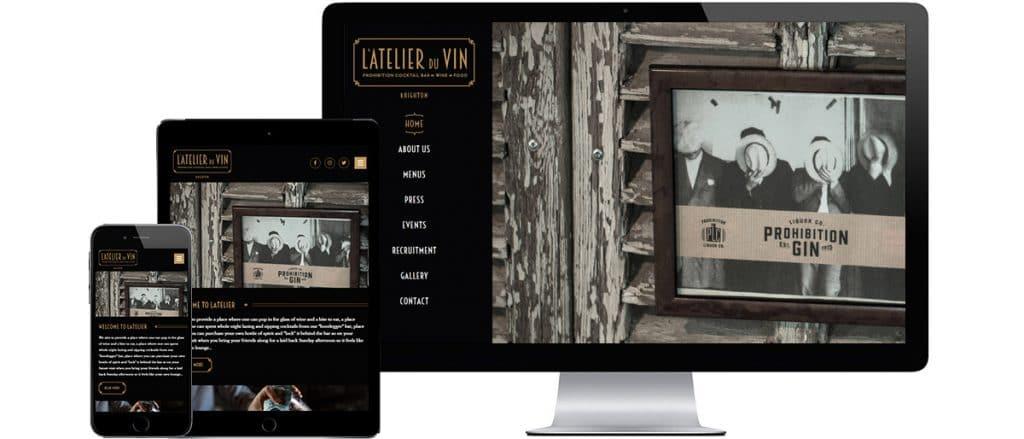 Brighton Website Design - L'Atelier Du Vin Cocktail Bar