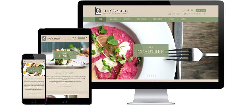 Brighton Website Design - The Crabtree in Horsham