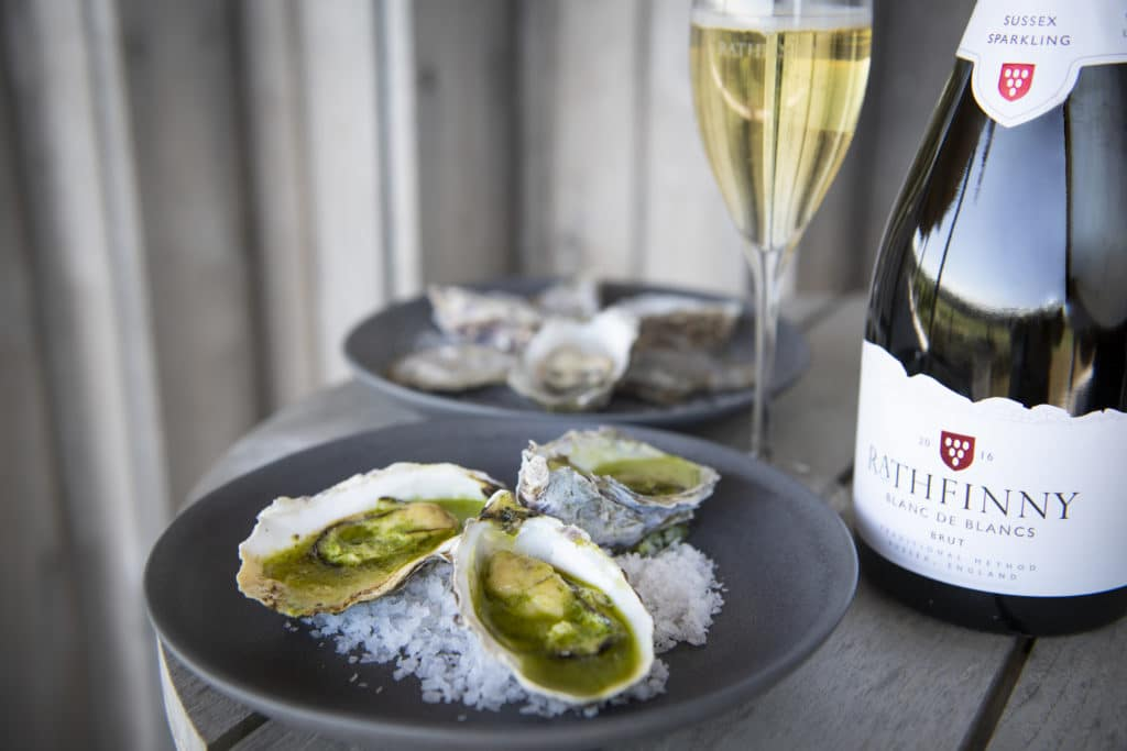 Oysters and English sparkling wine