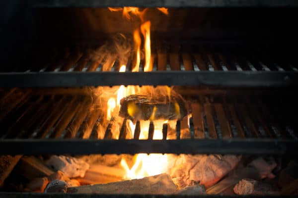 Hot coals off the Josper oven - The Coal Shed in Brighton