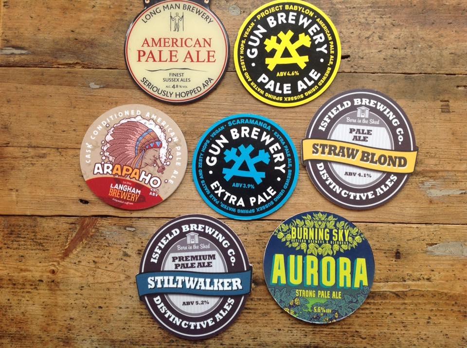 Beer badges in Worthing