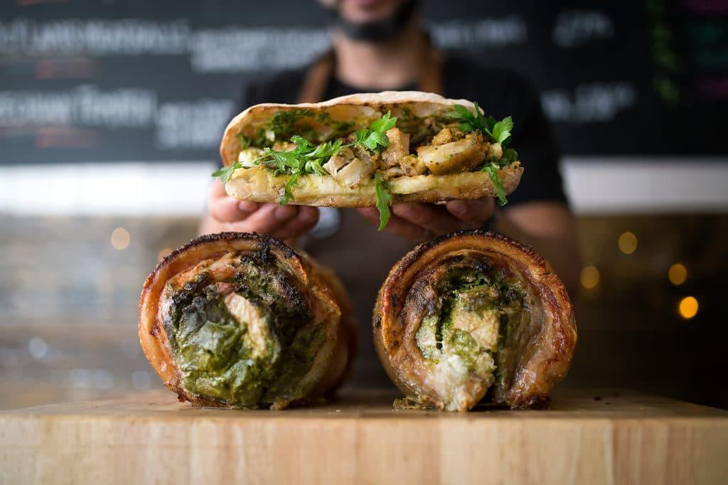 Social Board Brighton - Porchetta Sandwich and Sandwich
