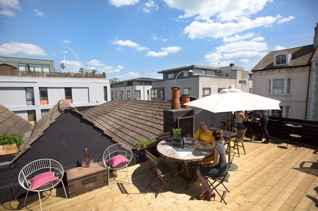 Roof terrace Brighton L'Atelier Du Vin