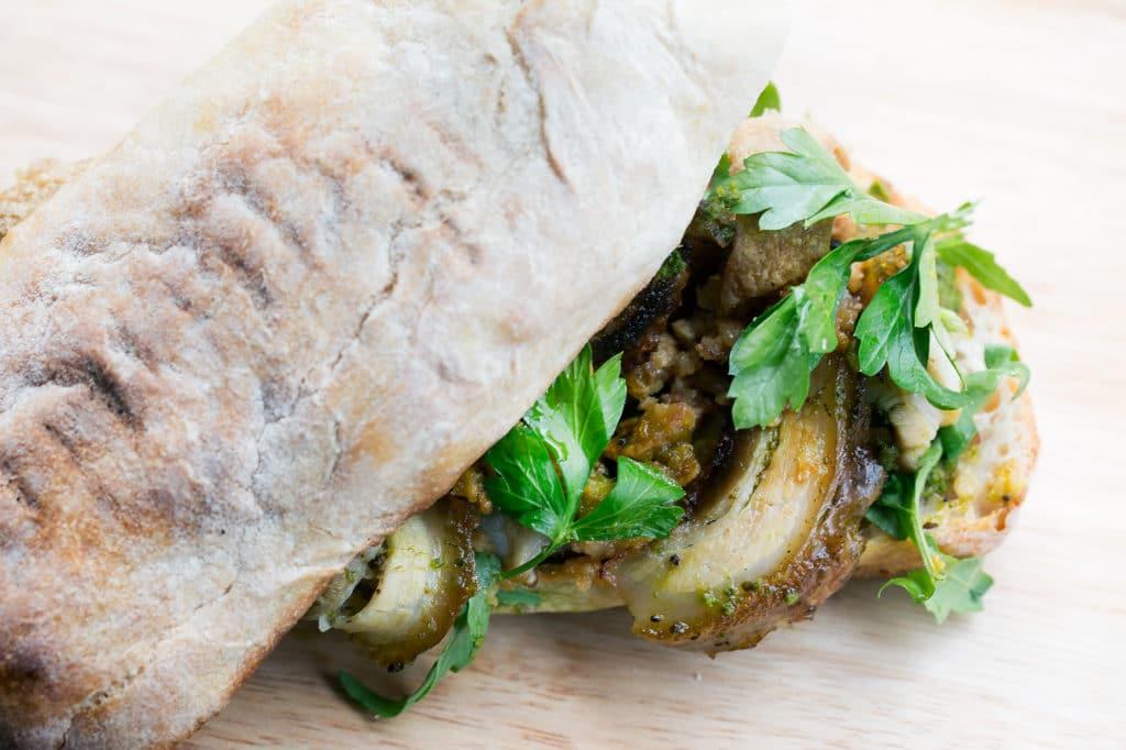 Social Board Brighton - Porchetta sandwich close up