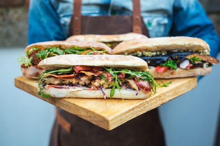 Social Board Brighton - Selection of sandwiches - Kemptown Brighton