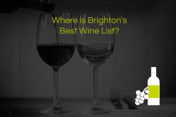 Brighton Restaurants - Best wine list category