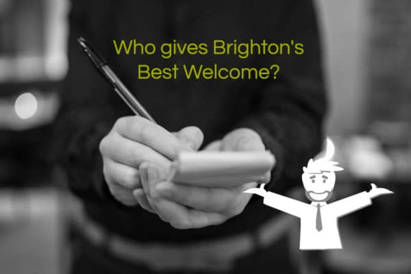 Brighton restaurant - Best Welcome Category