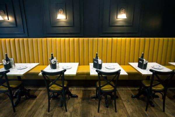 Seating in Zama Restaurant Hove