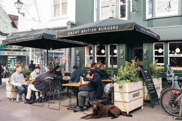 Honest Burgers Brighton street seating