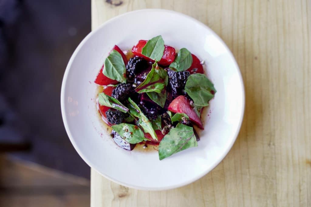 Autumn fruits salad
