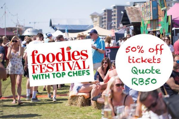 Brighton Foodies Festival 2019, ticket discounts, hove lawns