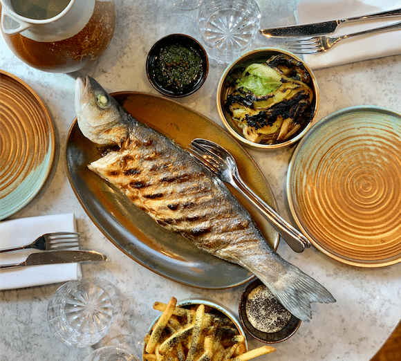 Kindling Lunch Grilled Fish