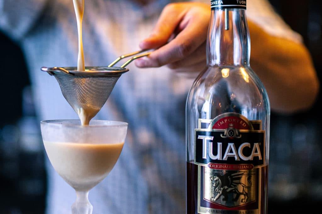 cocktail straining