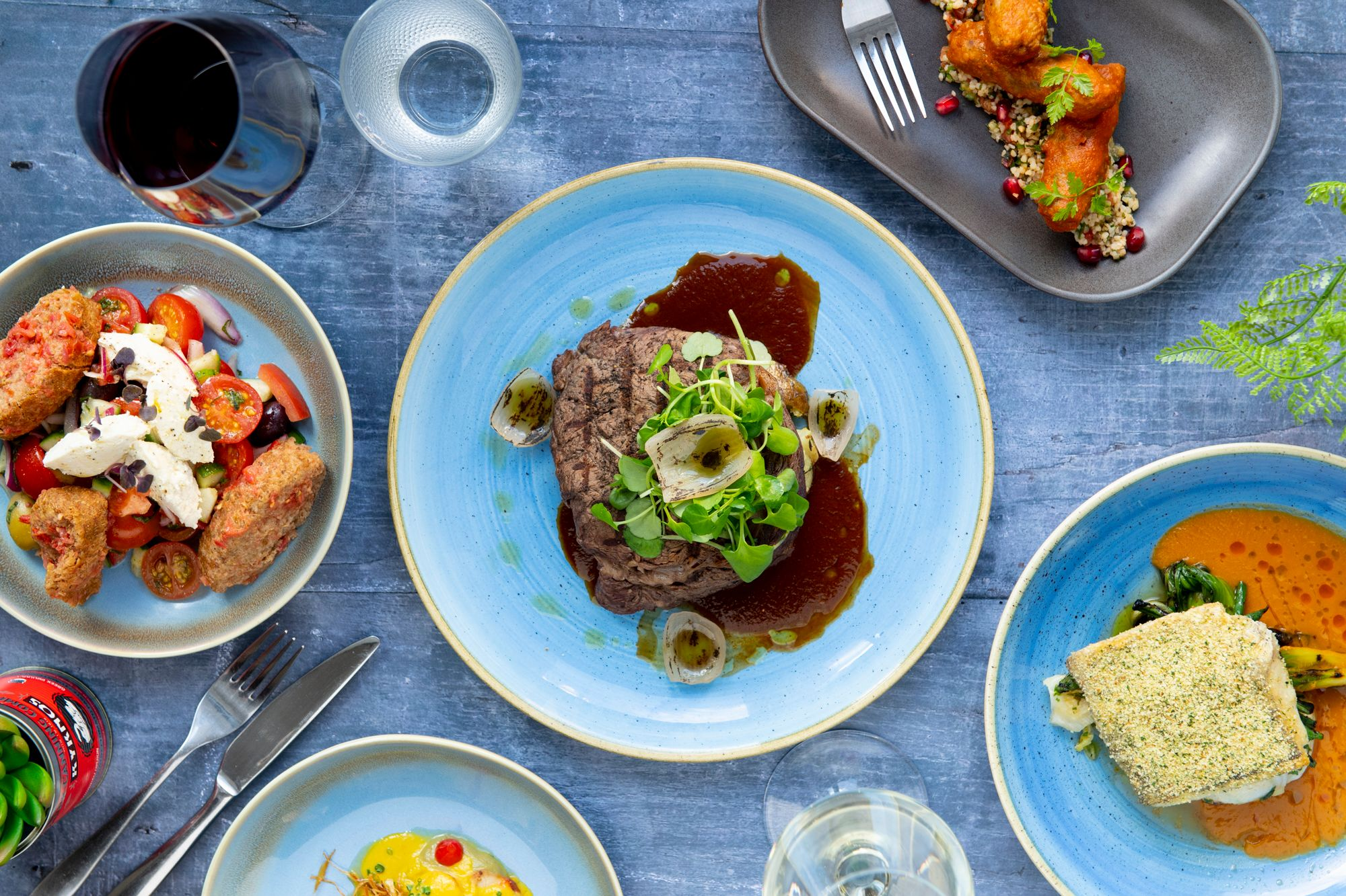 greek food on the table