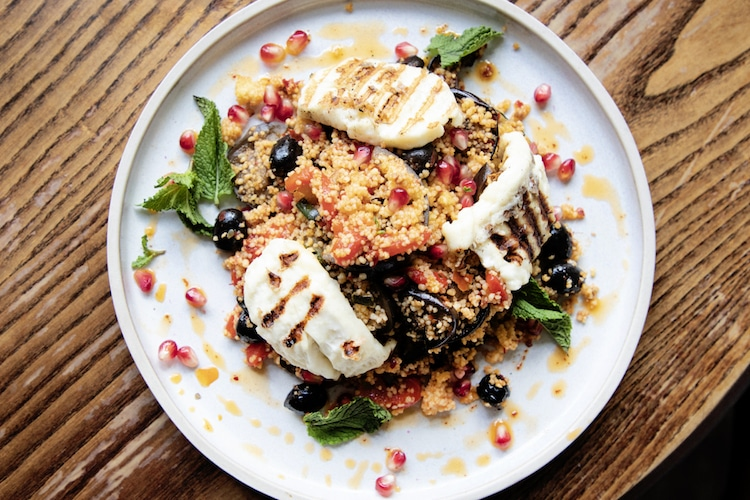 Couscous and halloumi at The George Payne Hove
