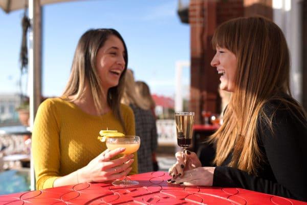 Ladies enjoying a cocktail at the Met Bar in Brighton