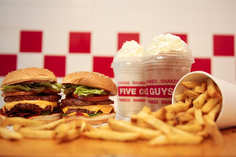 Burgers chips and shakes