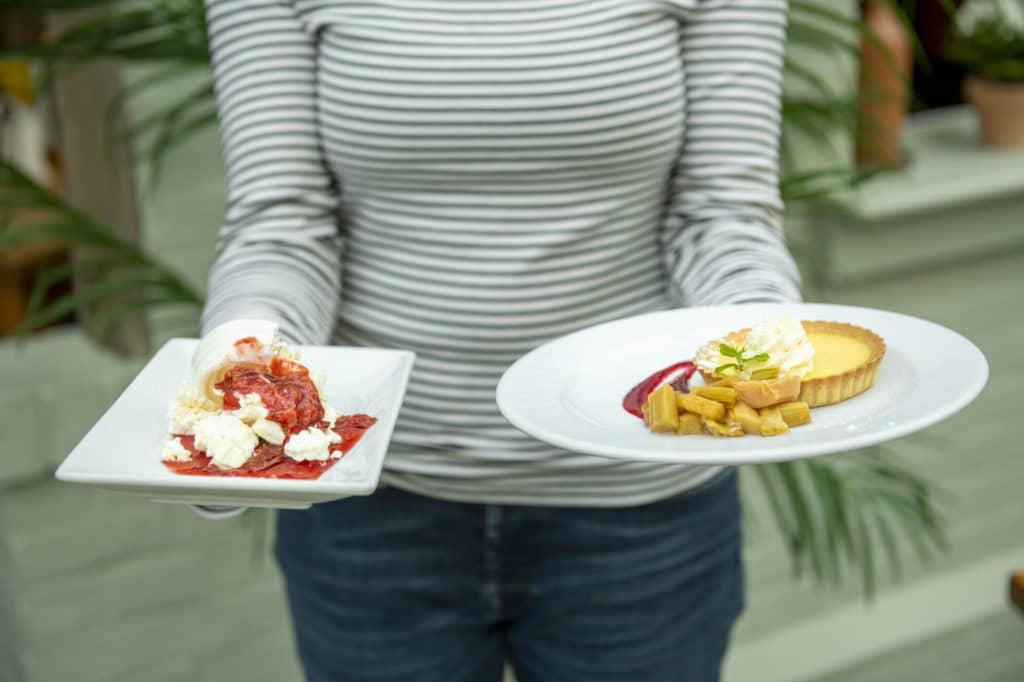 two seasonal desserts