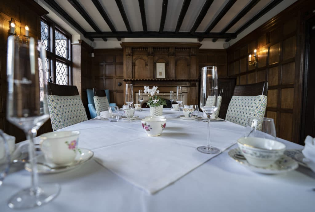 Private dining at Mannings Heath