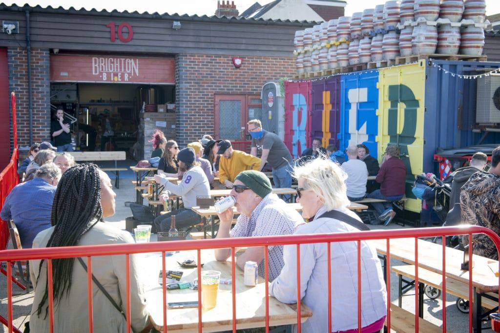 Beer Garden at Brighton Bier Brewery