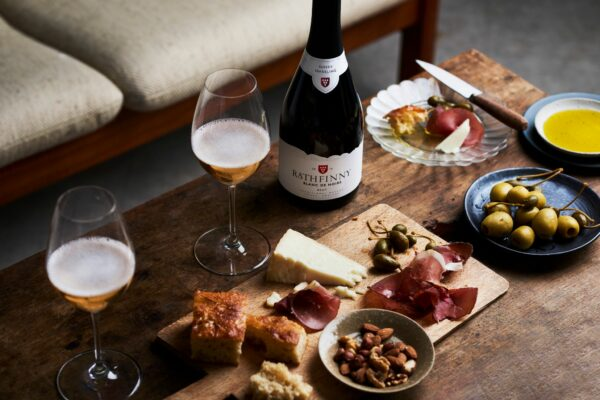 Rathfinny Blanc de Noirs with a Cheese and Charcuterie Board