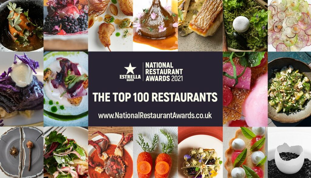 Photo montage from the National Restaurant Awards 2021