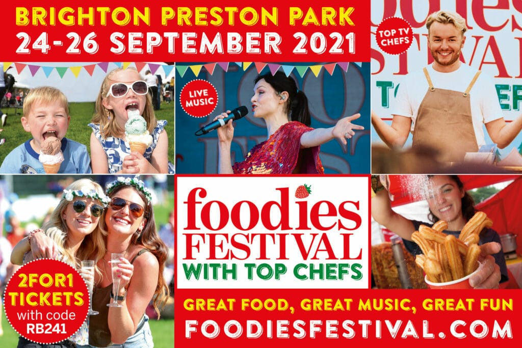 241 Tickets at the Foodies Festival Brighton