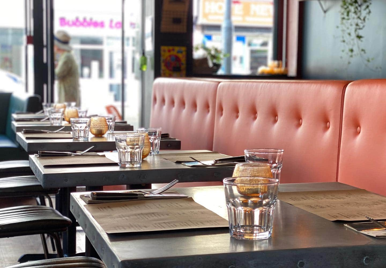 diner seating inside cafe