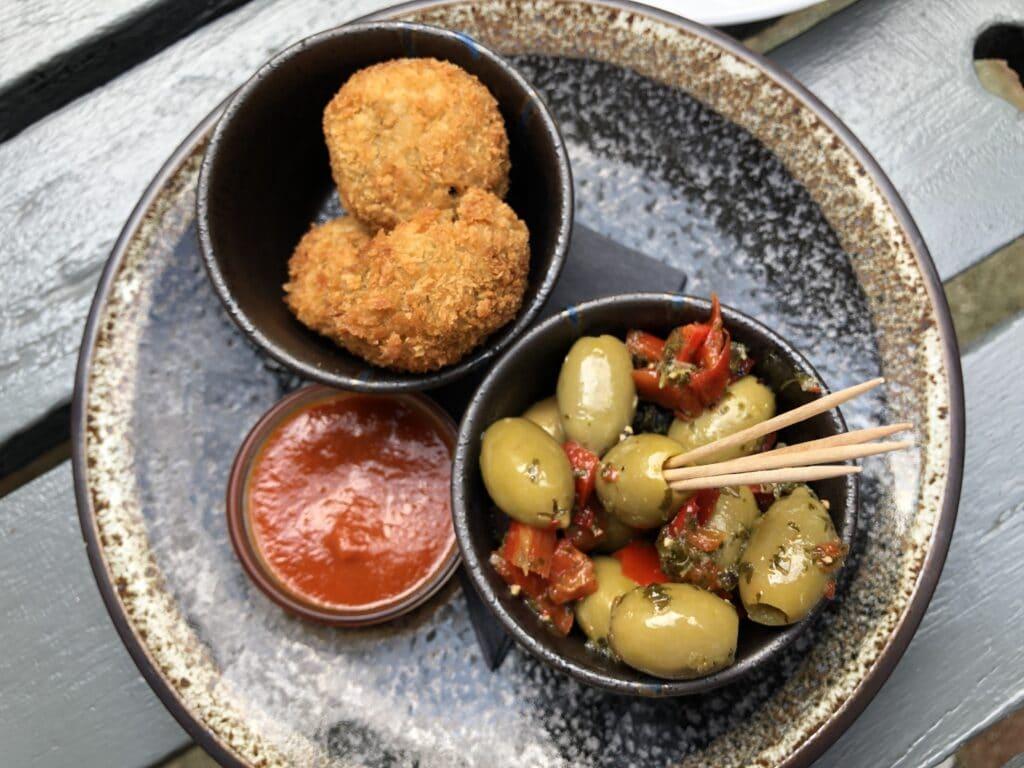 Olives and Felafel