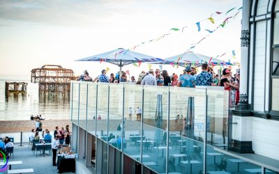 West Beach Cafe Bar Brighton, private event on the terrace