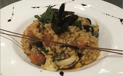 A bowl of seafood risotto at Buon Appetito Brighton