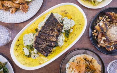 Flame grilled mullet