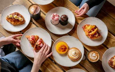 lot of different pastry on the table