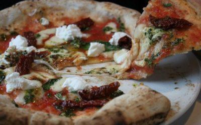 vegetarian pizza from franco manca in brighton
