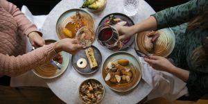 Food for sharing at Kindling