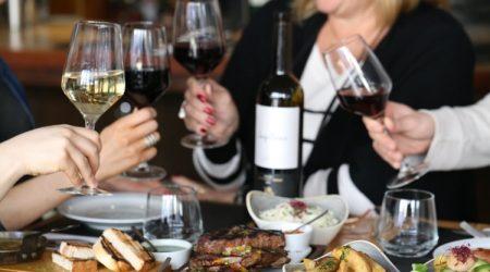 steak and wine at LatinoAmerica