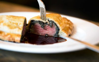 Limes of Lindfield Beef Wellington close up