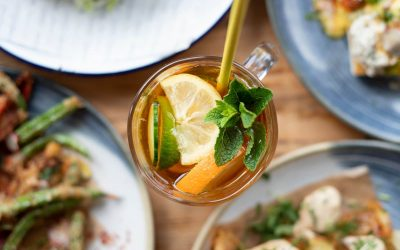 picture of cocktail taken from bird perspective