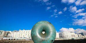 Brighton's Best Bloggers, Brighton beach sculpture on a sunny day