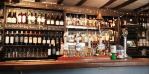 The bar at Pelham Scott - Lewes Restaurants