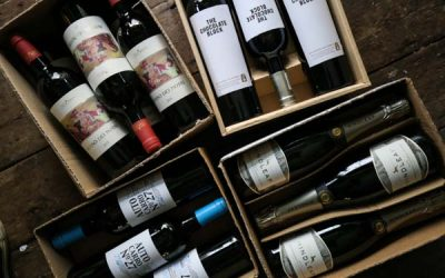 Selection boxes of wine ready for delivery