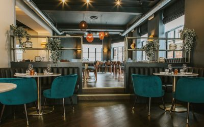 Interior shot with modern furnishings at The Ginger Pig Brighton