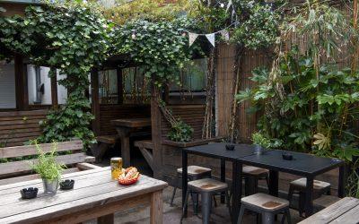 The Black Lion beer garden