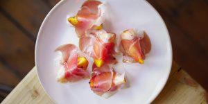 Parma ham and peach