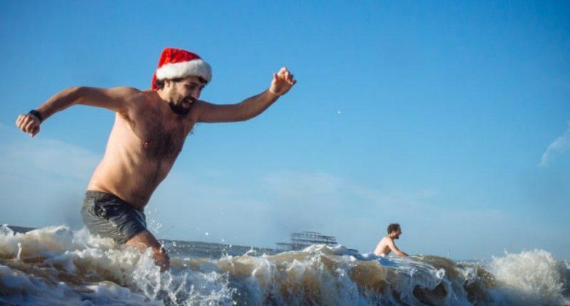 Christmas Day swim Brighton Beach