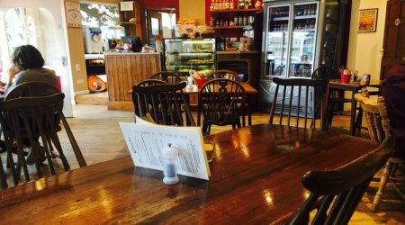 tables inside at cherry tree cafe